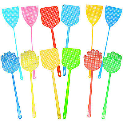 Long Fly Swatter X 2: Colours / Shapes Available. Insect Zapper & Pest Control