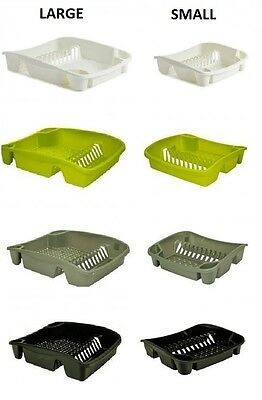 Plastic Kitchen Sink Dish Drainer Cutlery Plate Cup Drainer Holder Rack