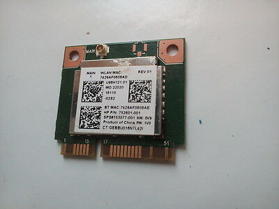 HP PAVILION 15-P158SA Wireless Wifi Internal Card 752601-001
