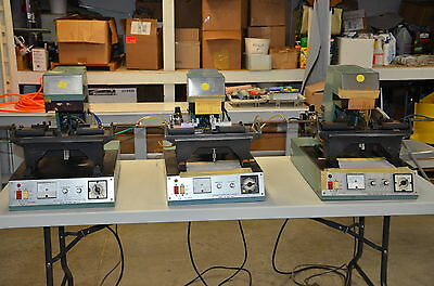 Lot of three Argus FS1028 Flat Quartz Crystal Soldering System