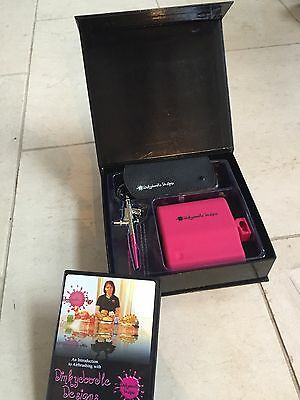 Dinky Doodle Hot Pink Professional Airbrush Kit DVD-Cake Decorating DinkyDoodle