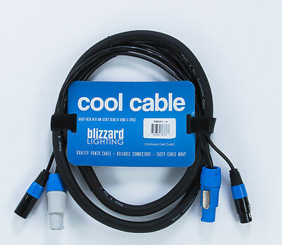Blizzard DMXPC-6 PowerCon to PowerCon and 3-pin DMX to 3-pin DMX Combo Cable - 6