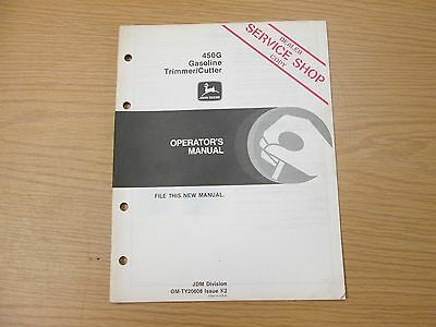John Deere 450G Gas Trimmer/Cutter Operators Manual Part# Omty20608