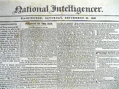 1840 newspaper CASH FOR NEGROES Prince George's County Maryland Slavery African