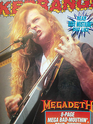 Megadeth # 8-Page Poster Pull Out # Carefully Removed From Kerrang Magazine