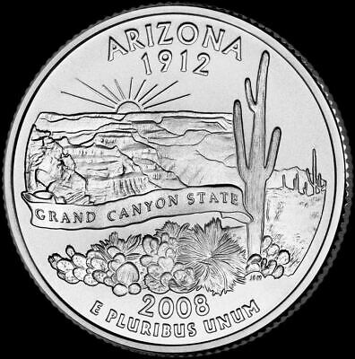 "2008 D Arizona State Quarter New U.S. Mint ""Brilliant Uncirculated"" Coin"