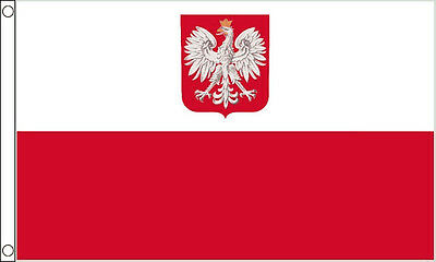 Poland Eagle Flag - Large 5 x 3' Polish State Country Team Football Euro 2016 IE