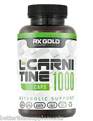 Rx Gold L-CARNITINE 1000mg - 120caps. L-carnitine, tartrate - free shipping !