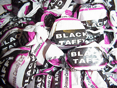 Black Jack Taffy Licorice 1 lb Wrapped by Primrose Old Fashioned Retro Candy