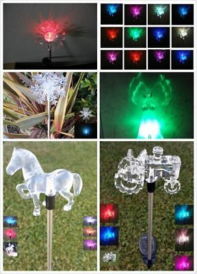 Garden Decoration Solar Powered Color Changing Pathway Lawn Patio Stake Light