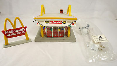"""McDonalds hand crafted lighted ceramic sculpture """"Look for the Golden Arches"""""""