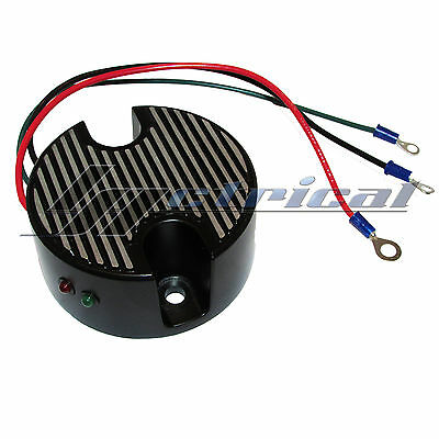 New Black Voltage Regulator Generator End Cover For Harley Davidson Sportster