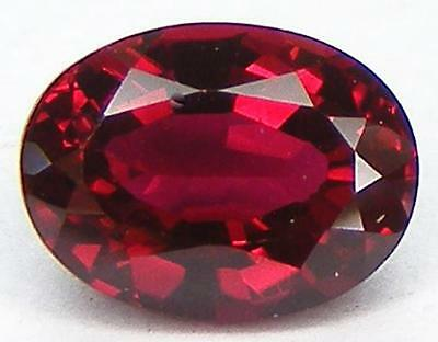 OVAL CUT 8x6 MM. PIGEON BLOOD RED RUBY LAB CORUNDUM