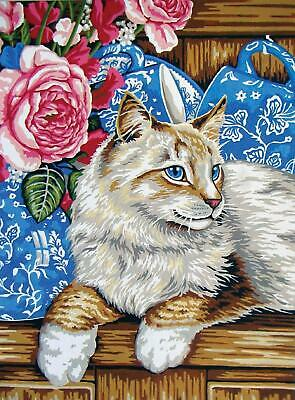 Grafitec Printed Tapestry/Needlepoint Canvas – Cat on the Shelf