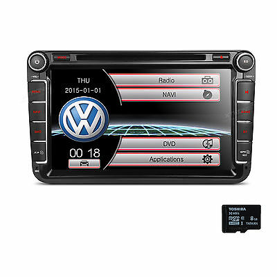 "GPS Navigation 7"" Radio 2DIN Car DVD Player for VW PASSAT GOLF JETT Volkswagen"