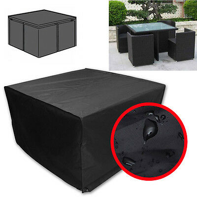 Heavy Dust Square Table 4-Seater Cover Patio Yard Outdoor Furniture Set Shelter