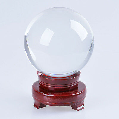 LONGWIN Clear Crystal Ball 120mm Quartz Sphere ORB Healing Ball with Stand Box