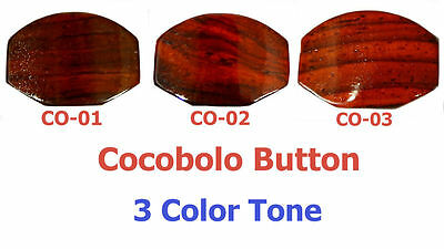 Fit for Grover Guitar machine head - Cocobolo buttons 6 pieces-3 color tone
