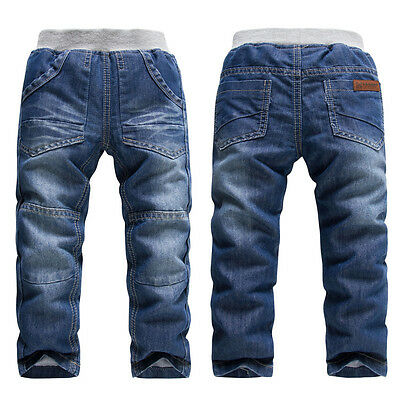 Kids Boys Girls Fashion Long Trousers Denim Pants Casual Children Jeans Clothes
