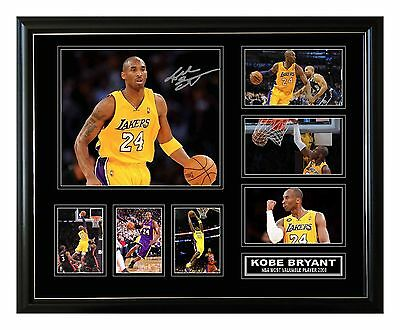 Kobe Bryant La Lakers Signed Limited Edition Framed Memorabilia