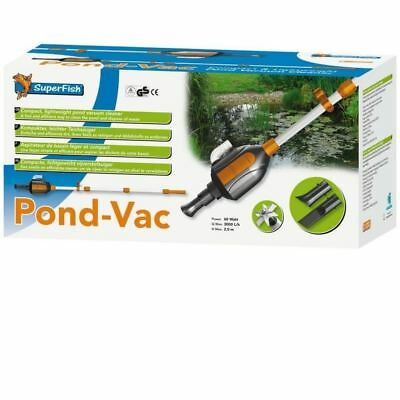 Superfish Pond Vac Vacuum Cleaner & Hose Takes Dirty Water Sludge From Bottom