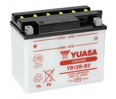 Genuine Yuasa YB12B-B2 Motorbike Motorcycle 12V Battery