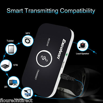 Wireless Bluetooth MP3 Music Audio Receiver Transmitter Adapter Dongle 3.5mm Aux