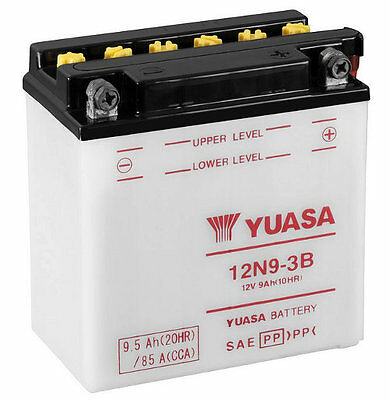 Genuine Yuasa Conventional 12V Motorcycle Battery 12N9-3B inc Free Acid Pack