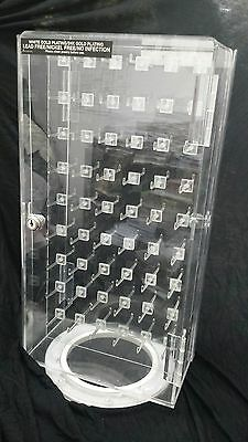 Acrylic display case 6x9 Hooks w/ lock and turntableI(Business Address Only)