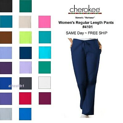 Cherokee Workwear Regular Womens Nurse Scrub Pants  Style 4101. ~NEW~ Free Ship