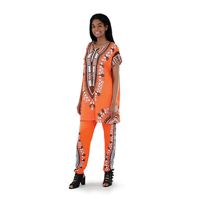 Plus-Sized Traditional Pant Set | Female African Clothing (Pink )