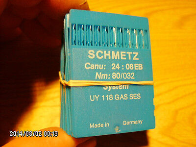 94 pc SCHMETZ sewing machine needles UY 118 GAS SES NM 80/032