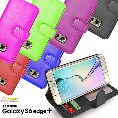 ID Card Wallet Flip Leather Stand Case Cover for Samsung Galaxy S6 Edge Plus +