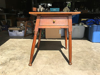 Antique Wood Single Drawer File Card Cabinet Dovetailed