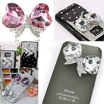 Rhinestone/Crystal Butterfly Bow Cabochon - mobile phones/shoes/cakes decor