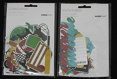 Kaisercraft 'GAME ON!' Collectables Die Cuts Sports (Choose from 2) KAISER