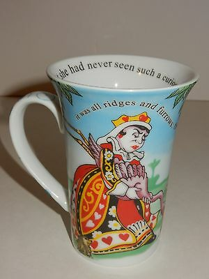 Alice in Wonderland Cafe Mug by Paul Cardew w/ Red Queen of Hearts & Croquet
