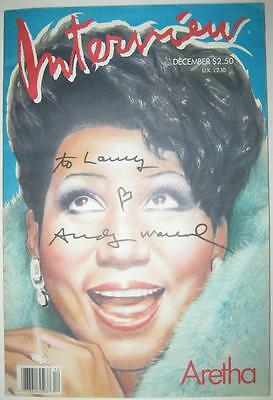 """Andy Warhol """"Aretha Franklin"""" ORIGINAL Full issue Hand Signed with heart Drawing"""