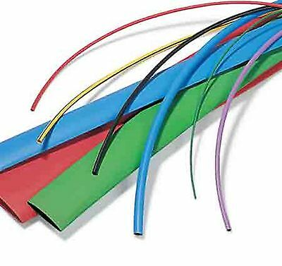 Heat Shrink 2.4m Tubing 15 Sizes Cable n Colour Insulation Wire Sleeve Ratio 2:1