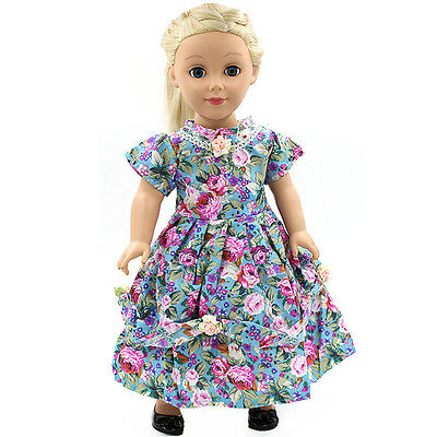 "Fits 18"" American Girl Madame Alexander Handmade Doll Clothes dress MG051"