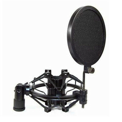 DZ847 Record Studio Microphone Mic Wind Screen Pop Filter Mask Shield Dual♫