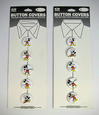 "10 Vintage 1"" Mickey Mouse Button Covers by OSP"