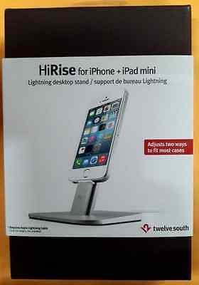 Twelve South HiRise for iPhone/iPad mini Adjustable charging stand, silver
