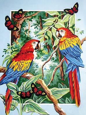 Grafitec Printed Tapestry/Needlepoint Canvas – Tropical Parrots