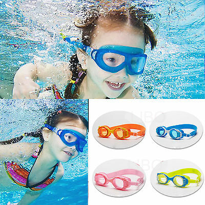 Adult Kids Silicone Adjustable Antifog Swimming Glasses UV Protect Goggles
