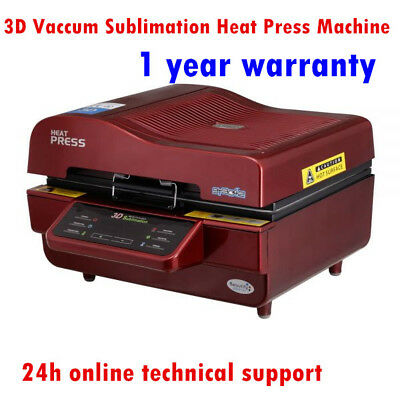 3D Vaccum Sublimation Heat Press Machine for Mugs,Plates, Phone Cases 220V