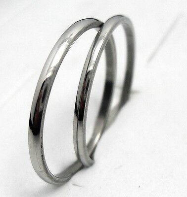 12pcs polished band  stainless steel rings 2mm fashion rings lots wholesale