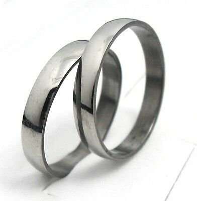 12pcs 4mm  polished band  stainless steel rings fashion rings lots wholesale