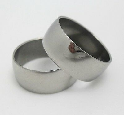 12pcs 10mm  polished band  stainless steel rings fashion rings lots wholesale