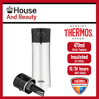Brand New Thermos Vacuum Insulated Drink Bottle with Tea-Infuser 470ml
